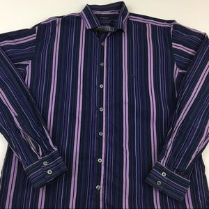 Burberry London Stripe Shirt Made In UK Size L